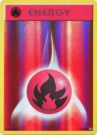 Fire Energy – 92/108 – Common Reverse Holo
