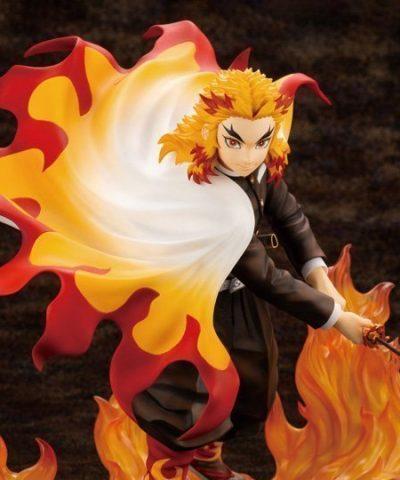 Demon Slayer Kimetsu no Yaiba ArtFX J Kyoujurou Rengoku (Purgatory Anjuro) Statue-1-JToys